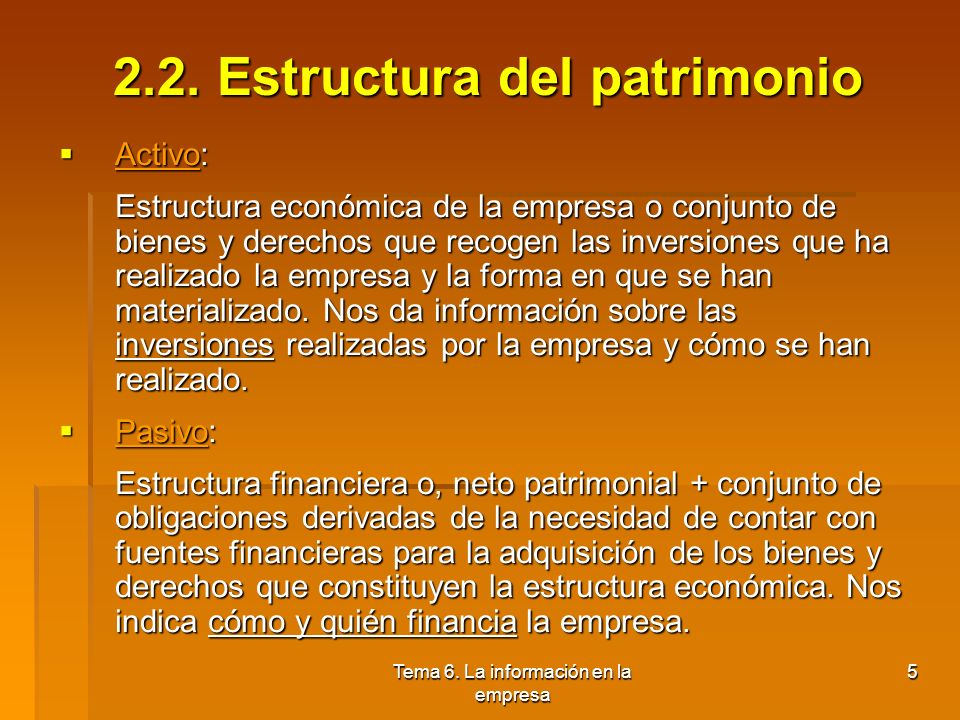 2.2. Estructura del patrimonio