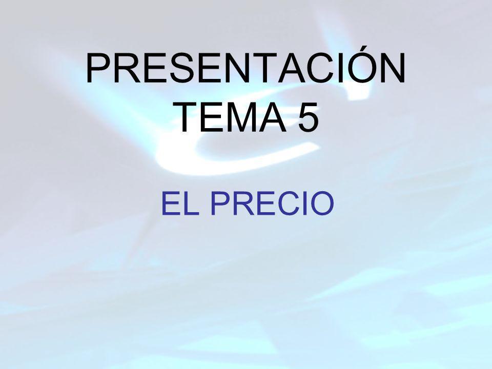PRESENTACIÓN TEMA 5 EL PRECIO