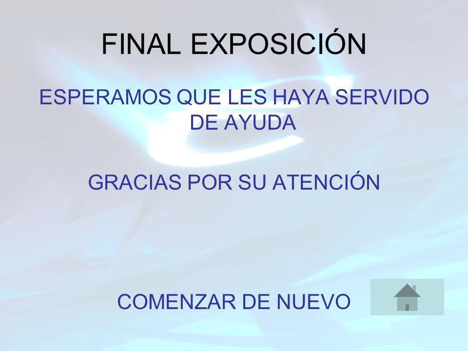 FINAL EXPOSICIÓN ESPERAMOS QUE LES HAYA SERVIDO DE AYUDA