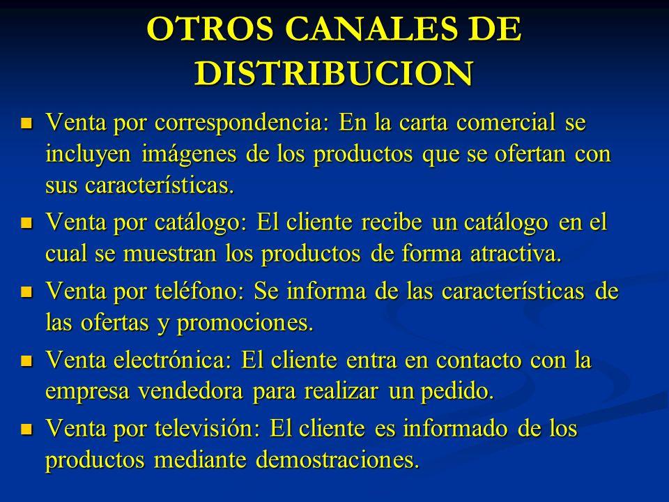 OTROS CANALES DE DISTRIBUCION