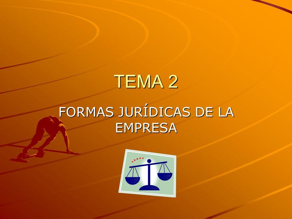 FORMAS JURÍDICAS DE LA EMPRESA