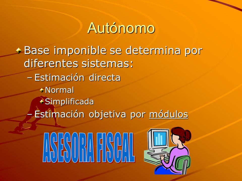 Autónomo ASESORA FISCAL