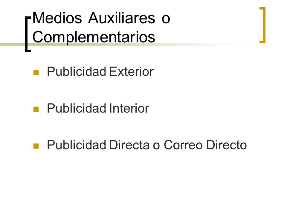 Medios Auxiliares o Complementarios