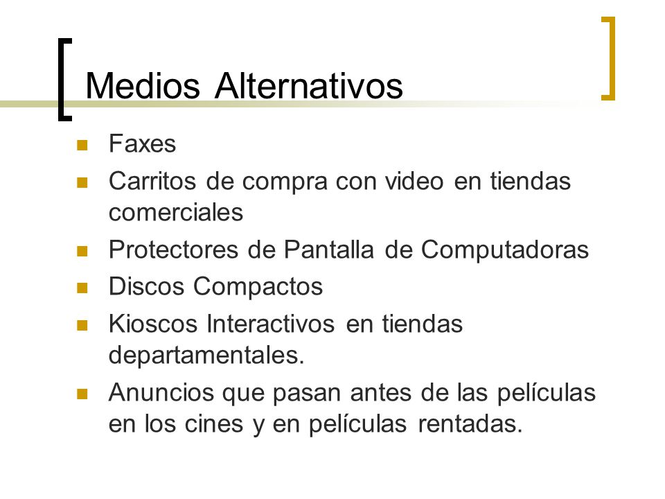 Medios Alternativos Faxes