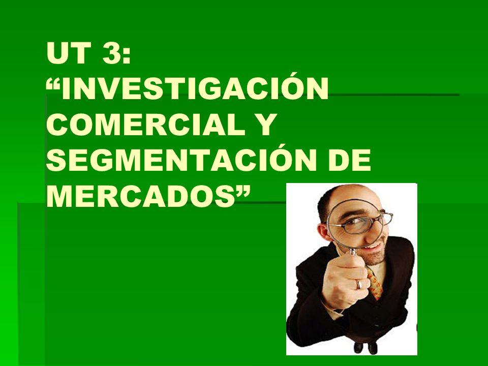 UT 3: INVESTIGACIÓN COMERCIAL Y SEGMENTACIÓN DE MERCADOS INTRODUCCIÓN: Importancia de las ventas en las empresas