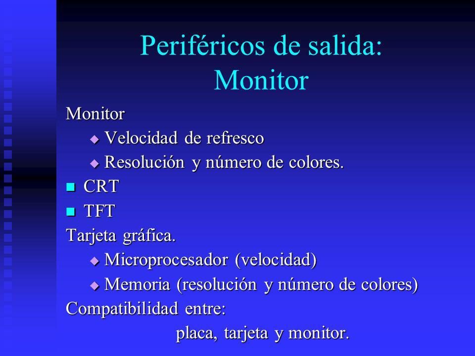 Periféricos de salida: Monitor