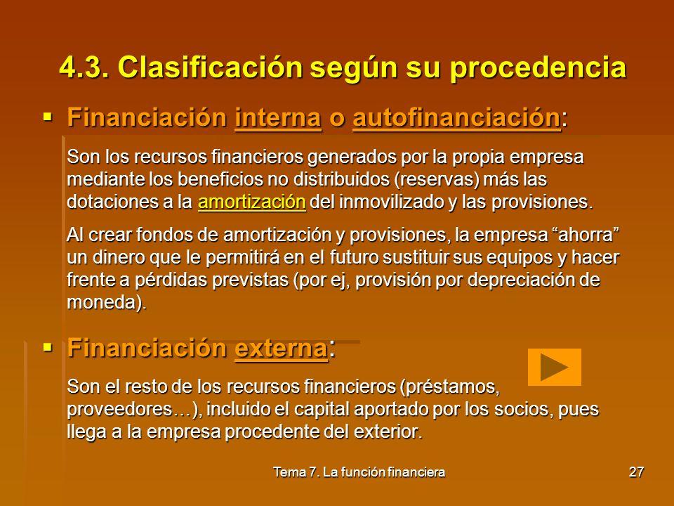 4.3. Clasificación según su procedencia