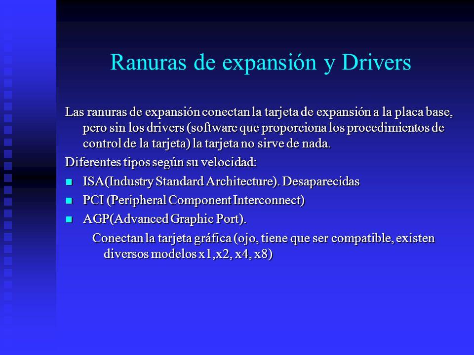 Ranuras de expansión y Drivers