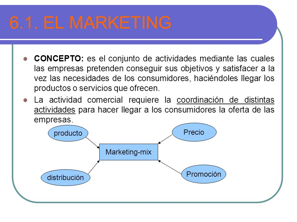 6.1. EL MARKETING
