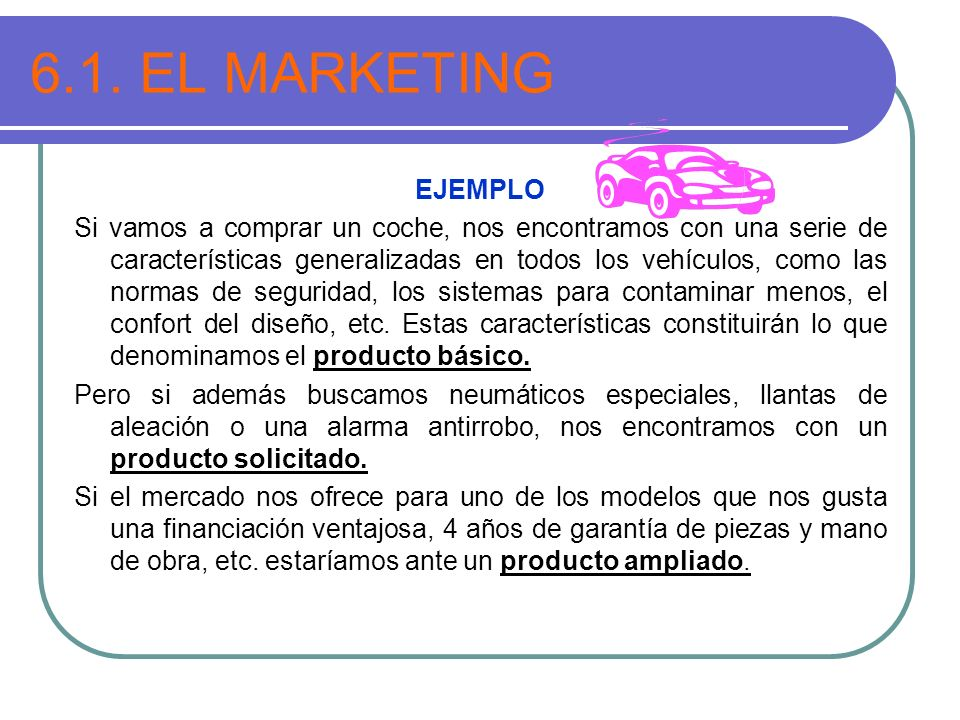6.1. EL MARKETING EJEMPLO.