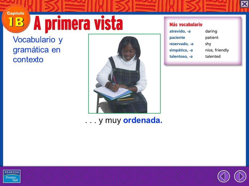 Vocabulario y gramática en contexto