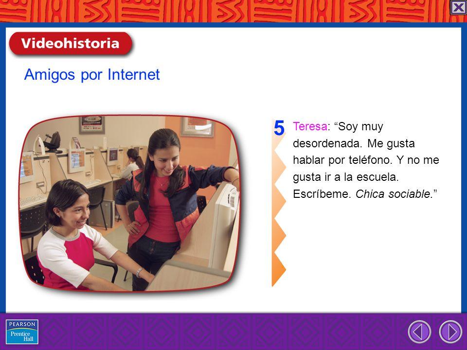 5 Amigos por Internet Teresa: Soy muy desordenada. Me gusta
