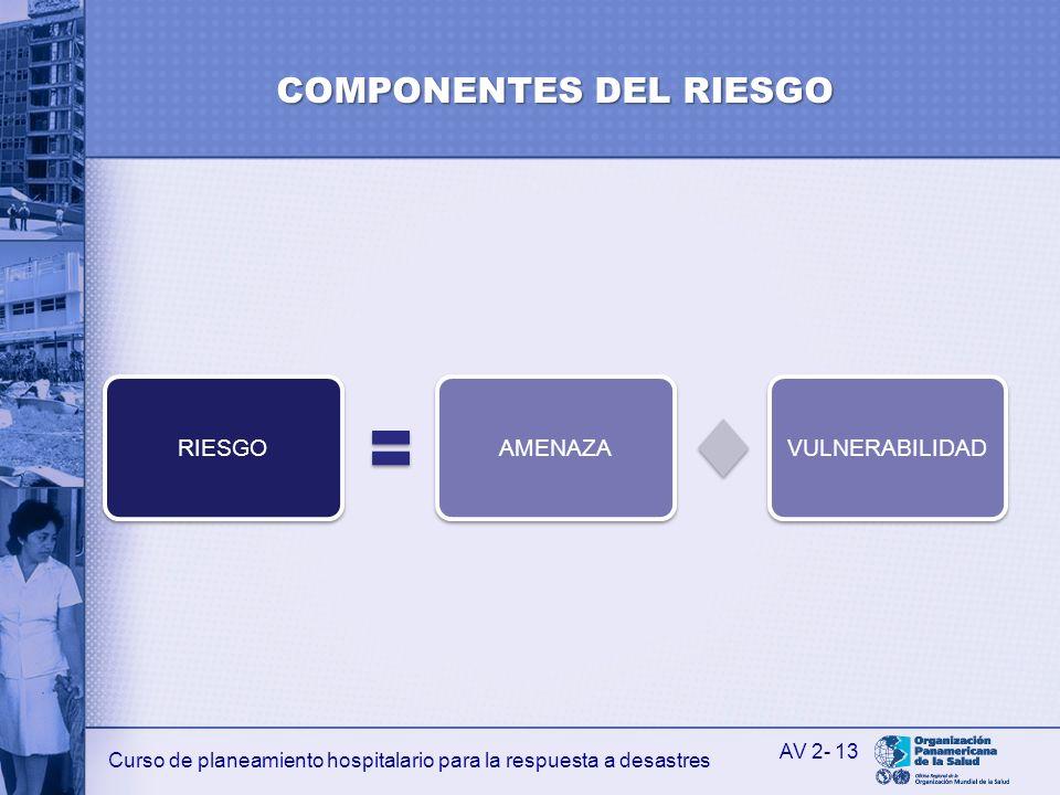 COMPONENTES DEL RIESGO