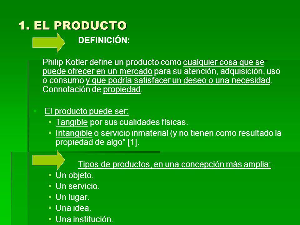 1. EL PRODUCTO DEFINICIÓN: