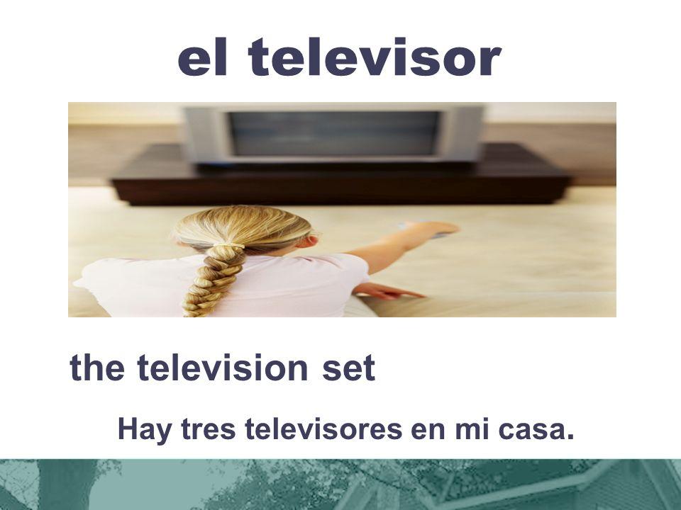 Hay tres televisores en mi casa.