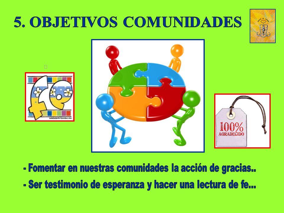 5. OBJETIVOS COMUNIDADES