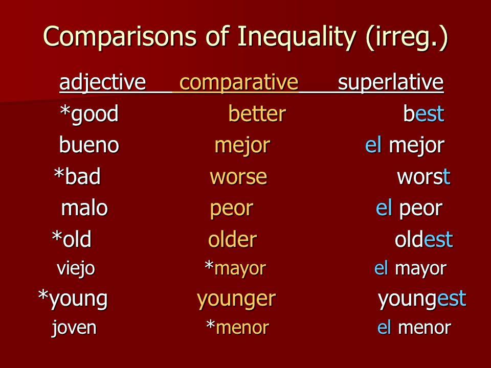 Comparisons of Inequality (irreg.)