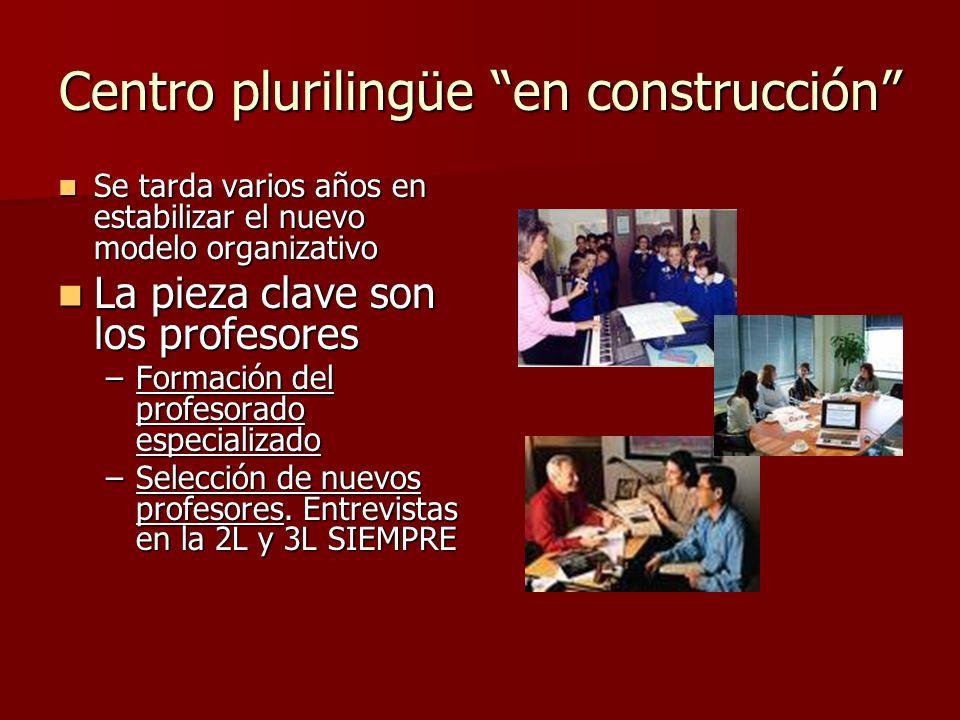 Centro plurilingüe en construcción