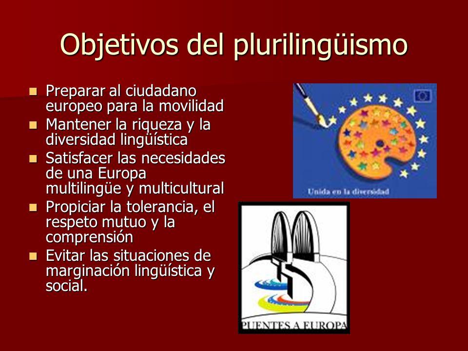 Objetivos del plurilingüismo