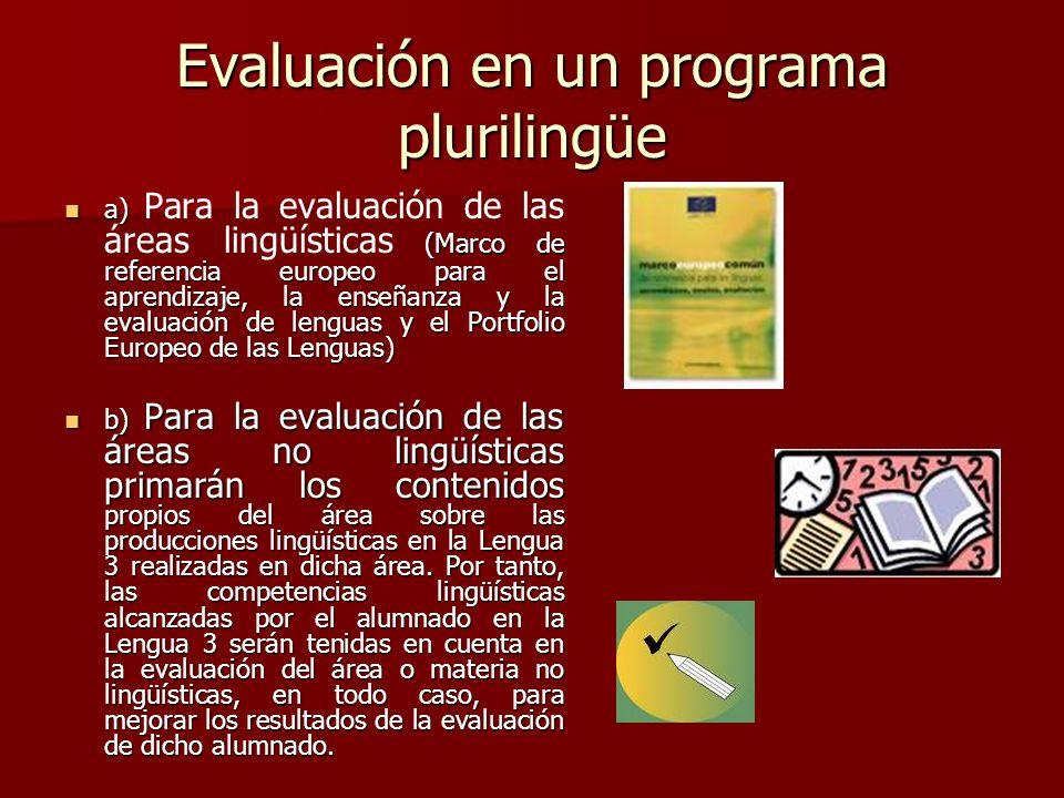Evaluación en un programa plurilingüe