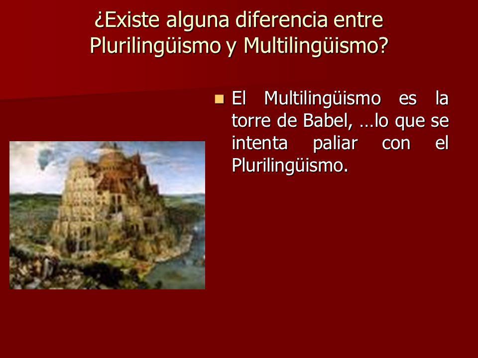 ¿Existe alguna diferencia entre Plurilingüismo y Multilingüismo