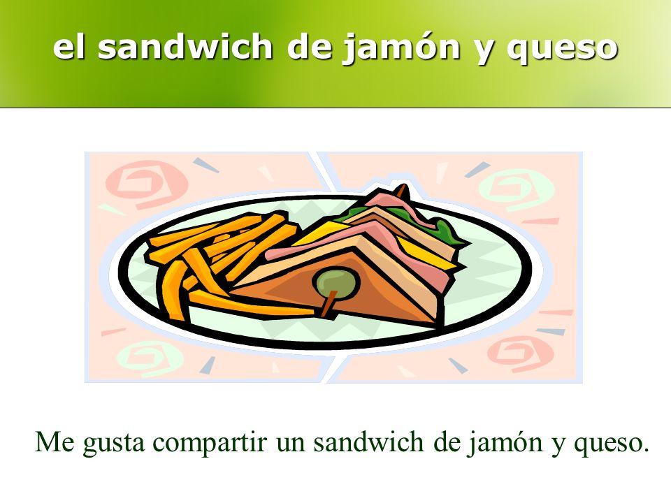 el sandwich de jamón y queso