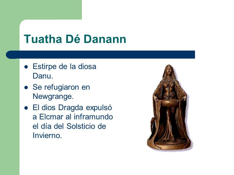 Tuatha Dé Danann Estirpe de la diosa Danu. Se refugiaron en Newgrange.