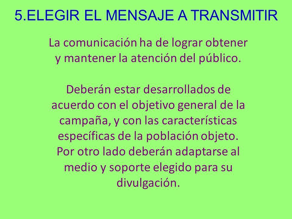 5.ELEGIR EL MENSAJE A TRANSMITIR