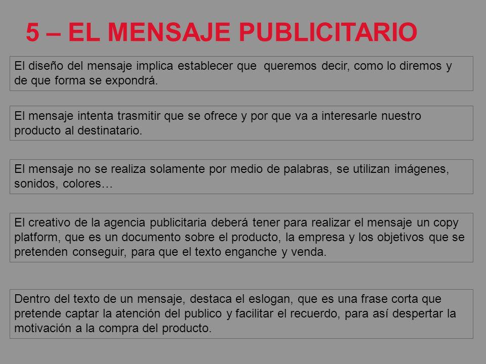 5 – EL MENSAJE PUBLICITARIO