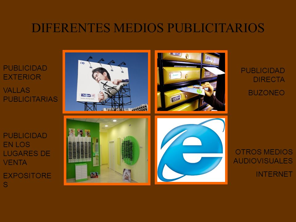 DIFERENTES MEDIOS PUBLICITARIOS