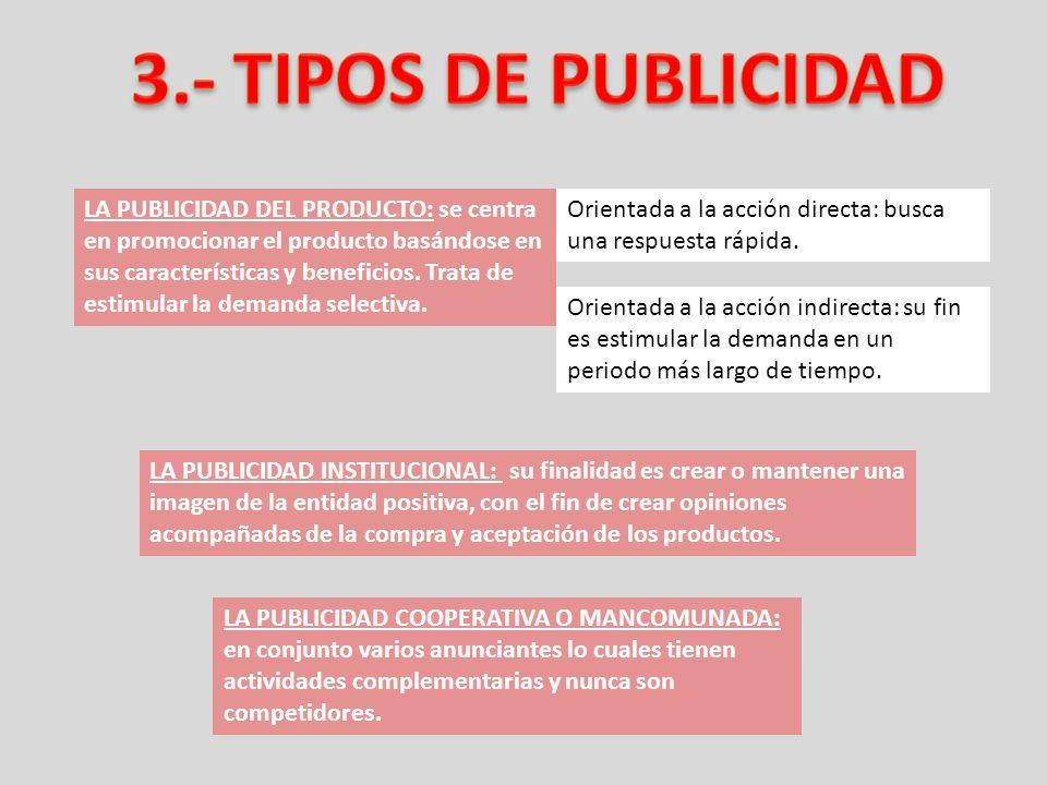 3.- TIPOS DE PUBLICIDAD