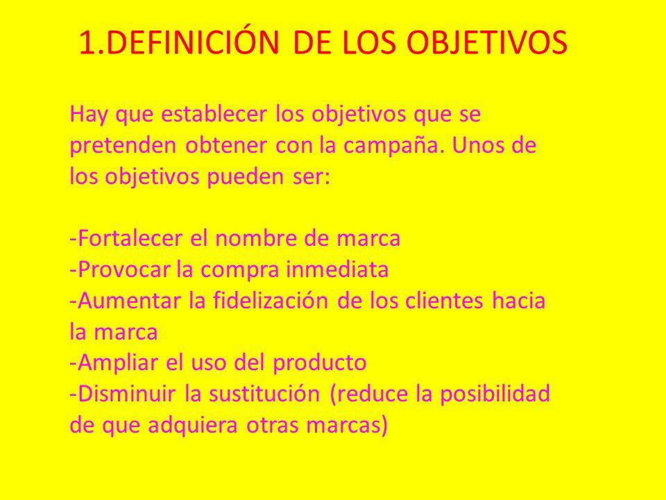 1.DEFINICIÓN DE LOS OBJETIVOS
