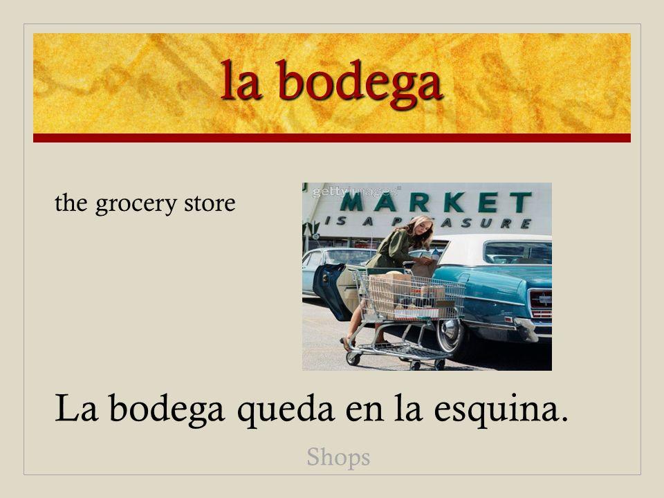 la bodega the grocery store La bodega queda en la esquina. Shops