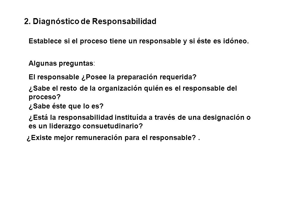 2. Diagnóstico de Responsabilidad