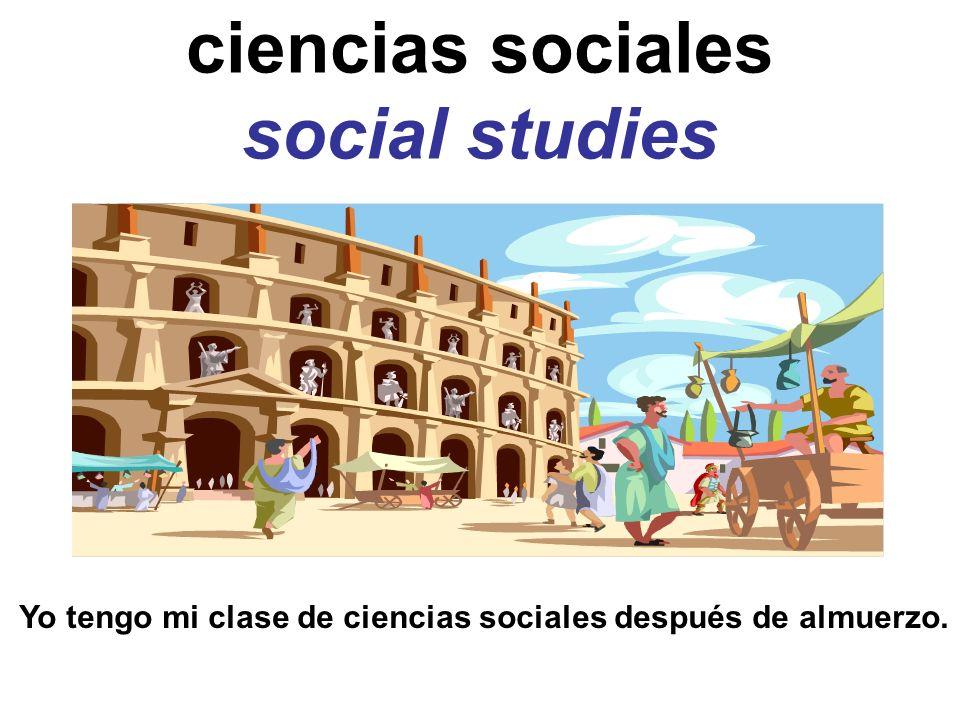 ciencias sociales social studies
