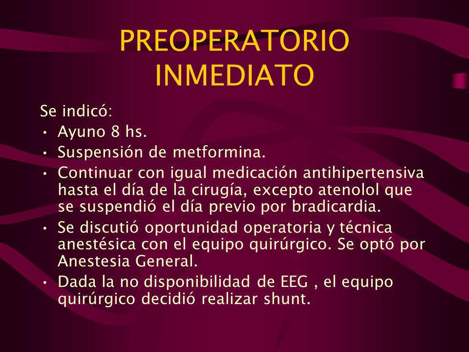 PREOPERATORIO INMEDIATO