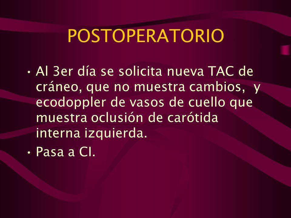 POSTOPERATORIO