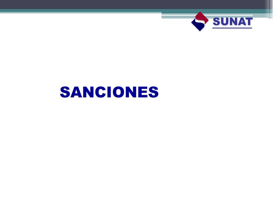 SUNAT SANCIONES
