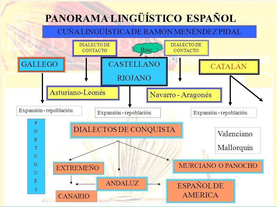 PANORAMA LINGÜÍSTICO ESPAÑOL