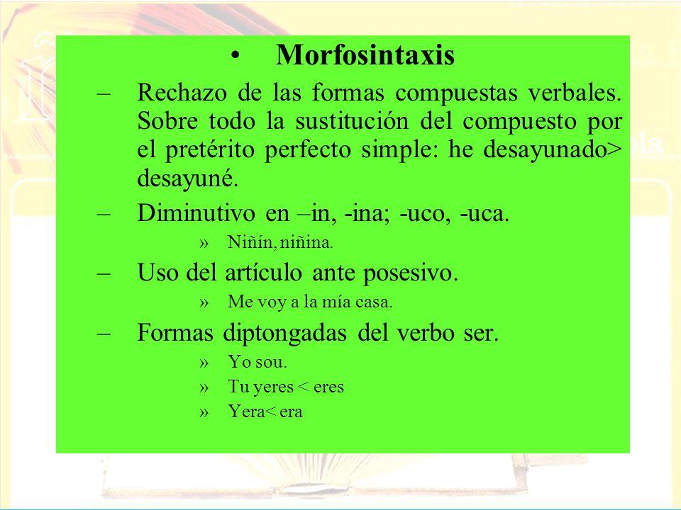 Morfosintaxis