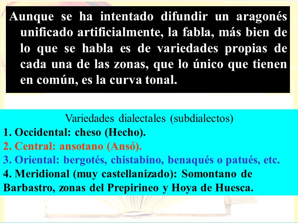 Variedades dialectales (subdialectos)