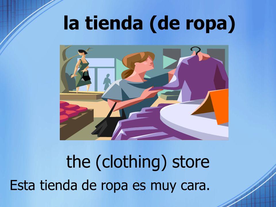 la tienda (de ropa) the (clothing) store