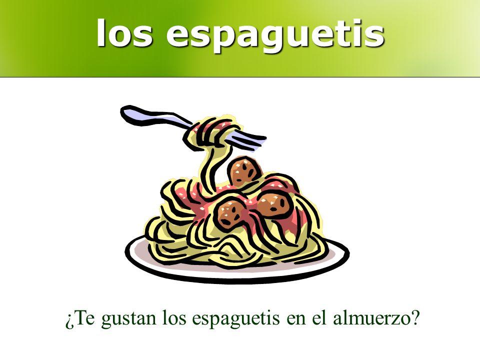 los espaguetis ¿Te gustan los espaguetis en el almuerzo