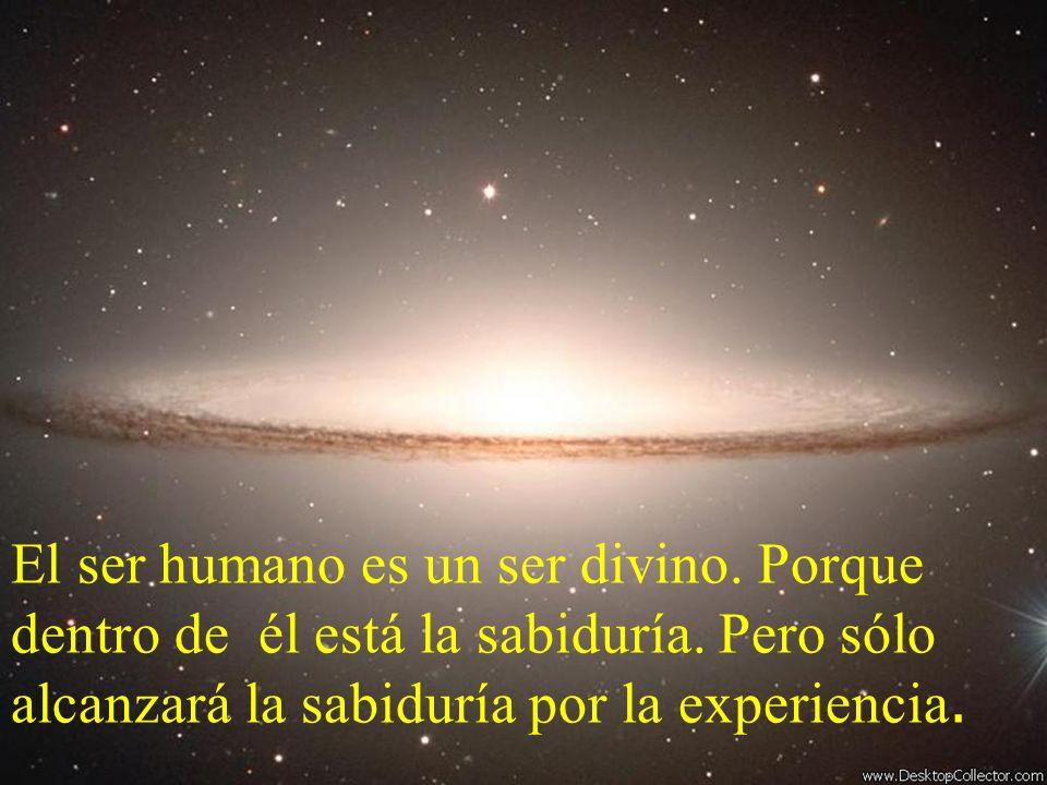 El ser humano es un ser divino. Porque dentro de él está la sabiduría