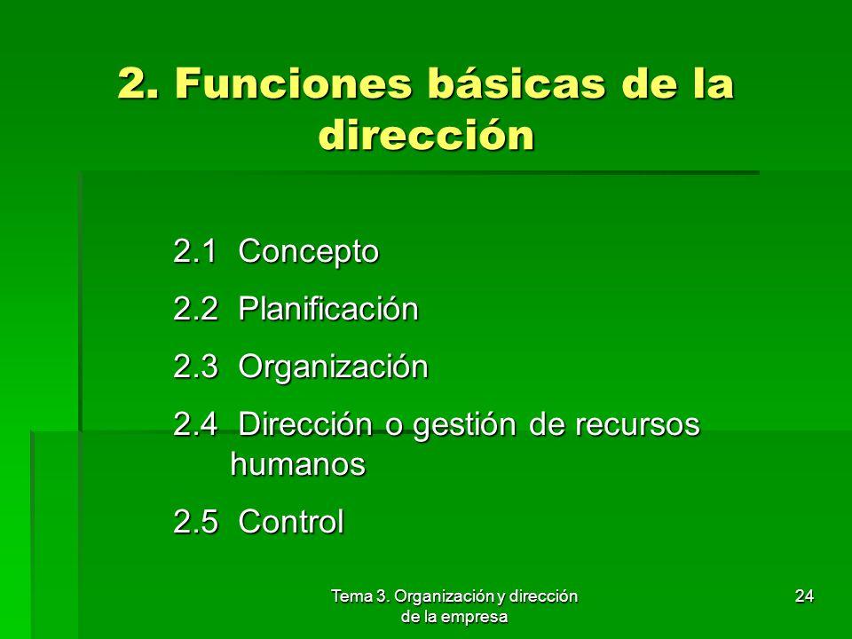 2. Funciones básicas de la dirección
