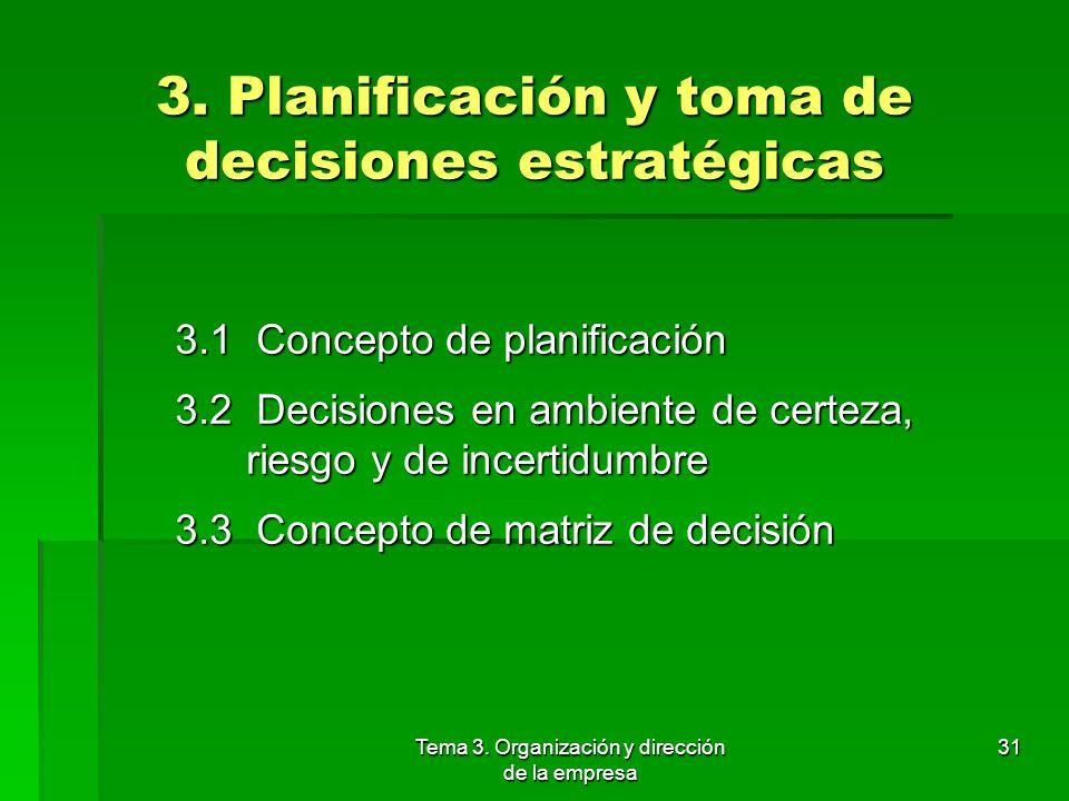 3. Planificación y toma de decisiones estratégicas