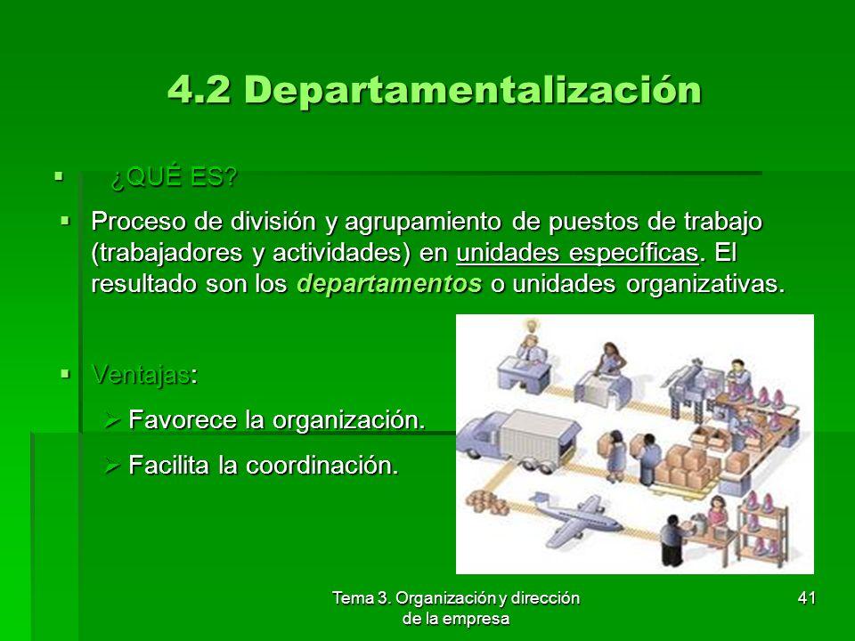 4.2 Departamentalización