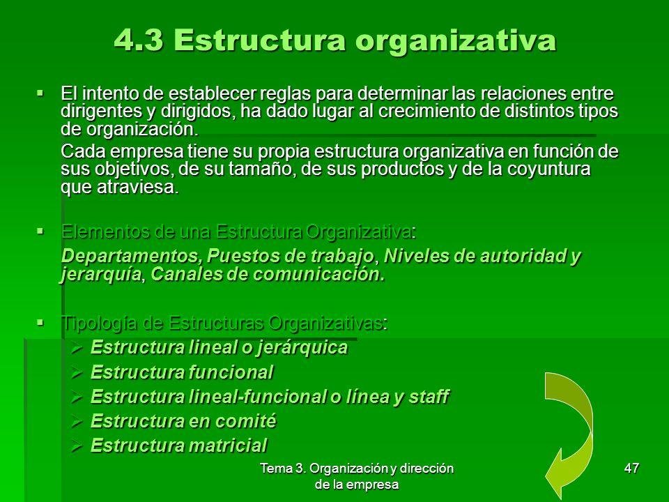 4.3 Estructura organizativa