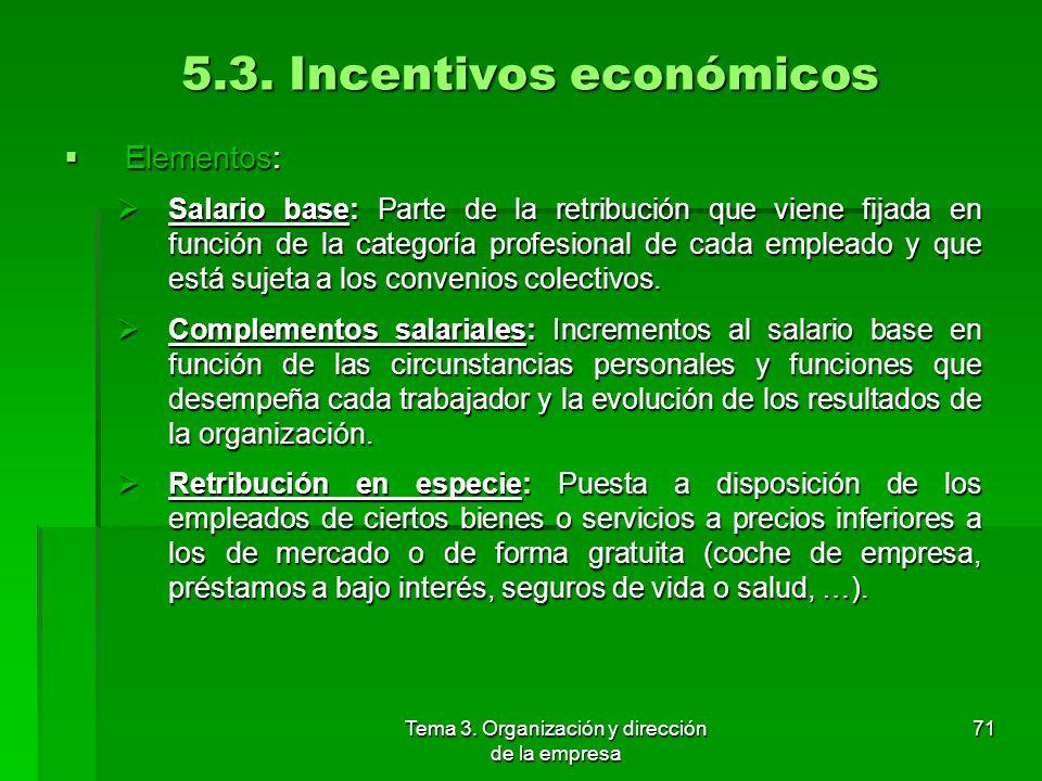 5.3. Incentivos económicos