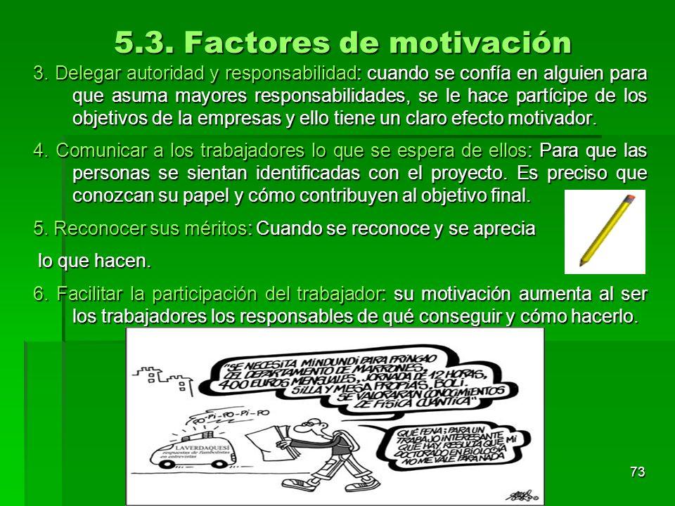 5.3. Factores de motivación